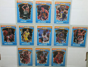 Hi We are The FLEER 90 ALL STARS Minus Pat Ewing. Michael Jordan, T. CHAMBERS