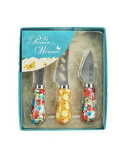 The Pioneer Woman Breezy Blossom 3 Piece Cheese Knife Serving Set BRAND NEW