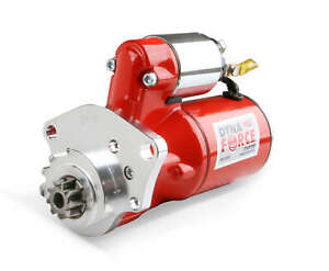 MSD Red DynaForce High Torque Starter Chrysler 318-440 Engines Downsized Design