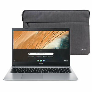 NEW Acer Chromebook 15.6quot; HD Intel N4000 4GB RAM 32GB eMMC Protective Sleeve $259.99