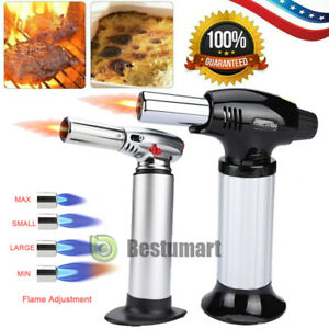 Cooking Torch Culinary Food Blow Chef Kitchen Creme Brulee Gas 4 Flame Lighter