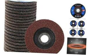 Coceca 20pcs Flap Discs Sanding Grinding Wheels 4-1 2 Inches for Angle