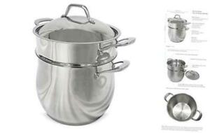 Fortune Candy 10-Quart Pasta Pot with Strainer Insert, Multi Cooker 10.6-qt