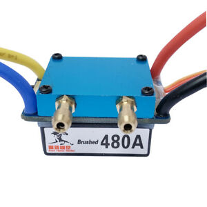 480A ESC Water Cooling Dual Mode Regulator Band Brake for 1:10 Car Bait RC Boat