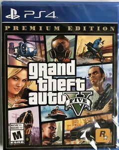 Grand Theft Auto V Premium Edition GTA 5 PS4 Sony PlayStation 4, 2013 Brand New