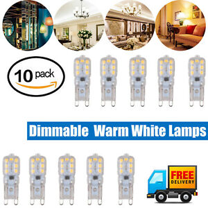 10pcs G9 5W LED Dimmable Capsule Bulb Replacement for Light Lamps 2835 SMD