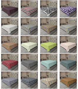 Ambesonne Abstract Motif Flat Sheet Top Sheet Decorative Bedding 6 Sizes