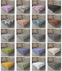 Ambesonne Abstract Illusion Flat Sheet Top Sheet Decorative Bedding 6 Sizes