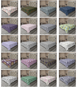 Ambesonne Abstract Surreal Flat Sheet Top Sheet Decorative Bedding 6 Sizes