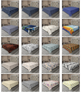 Ambesonne Abstract Fractal Flat Sheet Top Sheet Decorative Bedding 6 Sizes
