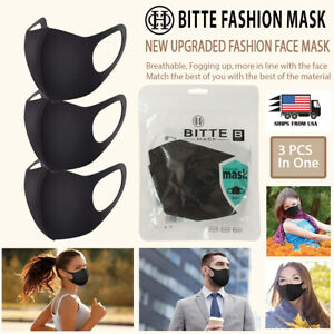 [Ships from USA] Washable & Reusable Fashion Face Mask Polyester (3 PCS IN ONE)