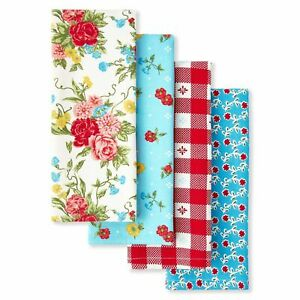 New The Pioneer Woman SWEET ROSE Kitchen Towels Bar Towels (set of 4) NWT