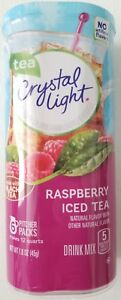 NEW CRYSTAL LIGHT RASPBERRY ICED TEA DRINK MIX 12 QUARTS FREE WORLDWIDE SHIPPING