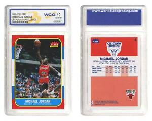 MICHAEL JORDAN 1996 97 Fleer DECADE OF EXCELLENCE Rookie Card Graded GEM MINT 10