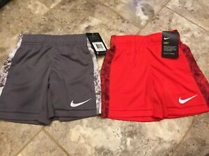 NWT Nike Dri Fit Shorts Boys Size 4 2 Pairs MSRP $20 each $18.00