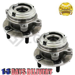 Both 2 Front Wheel Bearing Hub Assembly 513296 For 2014 2017 Nissan Altima $58.65
