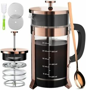 34 oz French Coffee Press Durable Heat Resistant Glass Coffee Maker