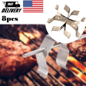 8pcs Universal Meat Grill Thermometer Probe Clip Holder For Ambient Temperature