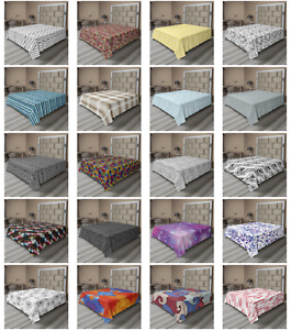 Ambesonne Abstract Absurd Flat Sheet Top Sheet Decorative Bedding 6 Sizes