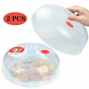 Microwave Plate Cover for Food Large Easy Grab Microwave Cover Splatter Guard...