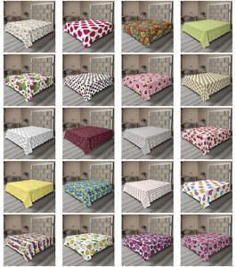Ambesonne Fruit Concept Flat Sheet Top Sheet Decorative Bedding 6 Sizes