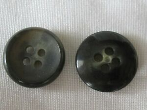 18 New Genuine Horn Sewing Buttons Rochester Dark Gray 5 8quot; 15MM Italy Free Ship $9.95