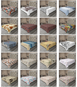 Ambesonne Vintage Classic Flat Sheet Top Sheet Decorative Bedding 6 Sizes