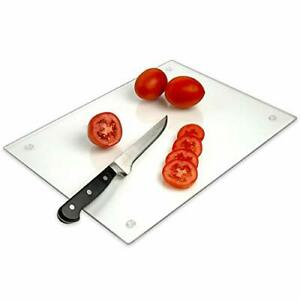 Tempered Glass Cutting Board – Long Lasting Clear Glass – Scratch Resistant...