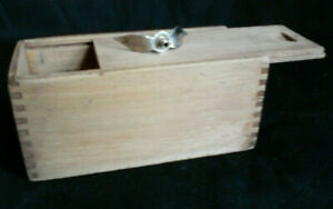 Heddon Dowagiac Antique Wood Slide Top Box and engraved