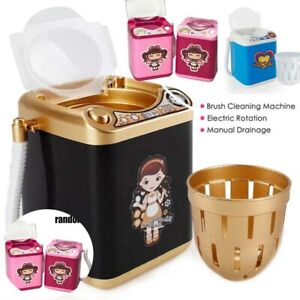 Toy Makeup Brushes Kids Machine Dollhouse Mini Washer Cleaner Electric $8.95