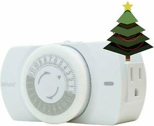 Woods 50103WD Indoor 24-Hour Heavy Duty Mechanical Timer, 1 Grounded Outlet