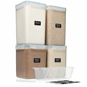 Extra Extra Large 6.5L x 2 & EXTRA LARGE 5.2L x 2 - WIDE & DEEP Food Storage ...
