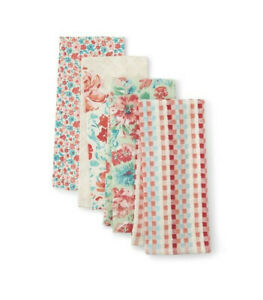 The Pioneer Woman Kitchen Towels Bar Towels (set of 4) Gorgeous Garden with tags
