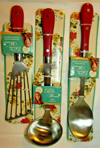 The Pioneer Woman Frontier Collection 3 Piece All In One Kitchen Utensil Set,