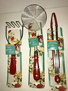 The Pioneer Woman Frontier Collection RED 3Piece All In One Kitchen Utensil Set