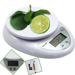 LCD Digital Kitchen Scale Diet Food Balance 5KG 11LBS Bowl Electronic Weight