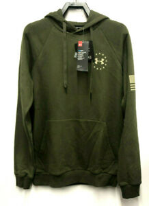 Under Armour Men's sz S UA Freedom Flag Rival Long Sleeve Tactical Hoodie $34.99
