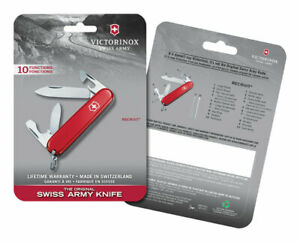 Victorinox Swiss Army  Recruit  Red  Stainless Steel  3.3 in. Pocket Knife