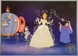 DISNEY'S CINDERELLA EXCLUSIVE COMMEMORATIVE LITHOGRAPH 1995 opened envelope