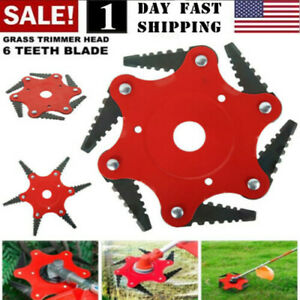 Universal 6Steel Blades Razors 65Mn Grass Weed Brush Cleaner Trimmer Head Cutter
