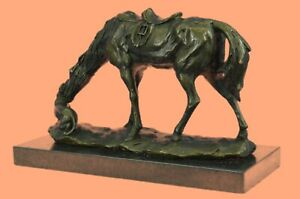 Sculpture Bronze Horse Signed Art Decor Cabin Lost Wax Method Country Cabin Sale $249.00