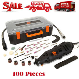 100 Pieces Rotary Tool Kit Accessories Dremel Set Variable Speed With Flex Shaft $28.99