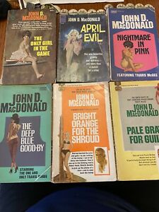 Vintage Lot of 15 John D MacDonald books 1950s 1960s FAWCETT GOLD MEDAL 1 2nd pr