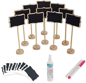 officematters Mini Chalkboard with Stand for Message Board Signs, Rectangle, Pac