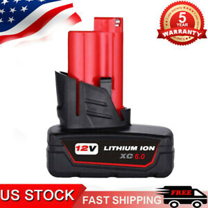 For Milwaukee M12 48-11-2460 LITHIUM 48-11-2412 XC 6.0 Cordless Battery 5.0Ah