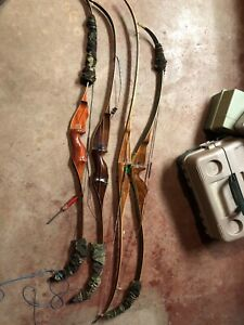 Four Original recurve bows bear and Howatt archery