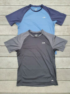Lot of 2 Duo Dry C9 by Champion Shirts Black and Blue sz M EUC $17.99