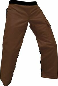 Forester Chainsaw Apron Chaps with Pocket Brown 37quot; Length by Forester