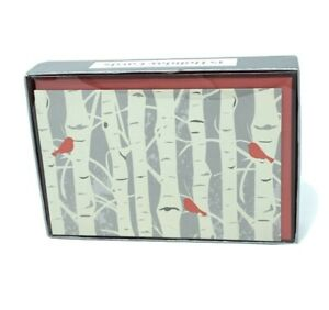 The Gift Wrap Company Holiday Red Birds Greeting Cards 13 Cards In Box $8.00