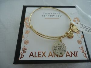 Alex And Ani SWEET AS HONEY COLOR INFUSION Shiny Gold Bracelet W Tag Card amp; Box $29.99